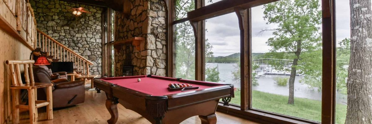pool table and view of lake-opt